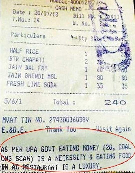 Congress branded intolerant after aditi restaurant fiasco for Aditi indian cuisine
