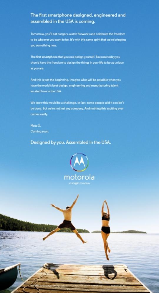 Motorola X Advert