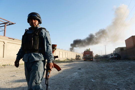 Nato Base in Kabul Attacked