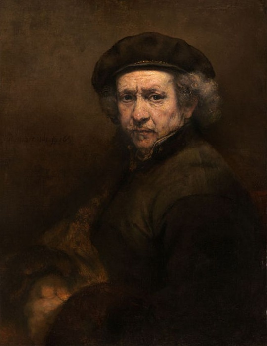 Self-Portrait with Beret and Turned-Up Collar