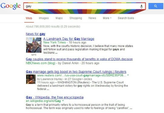 Google is Supporting Same-Sex Marriage