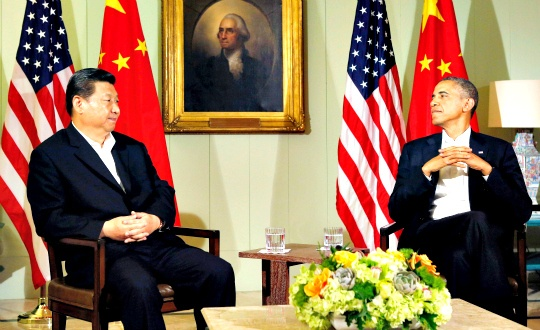 Chinese President Xi Jinping and President Barack Obama