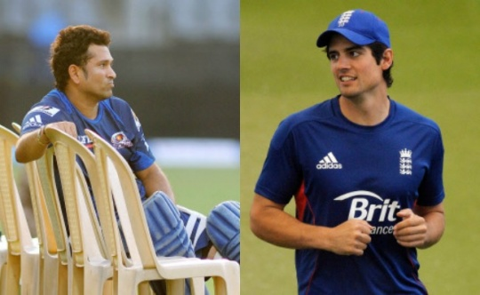 Sachin Tendulkar and Alistair Cook