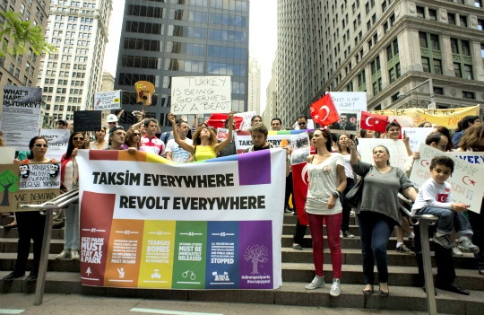Hundreds in New York Show Support for Turkish Uprising