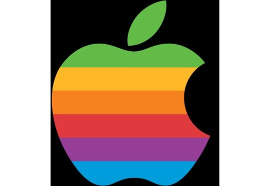 apple logo old
