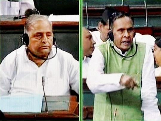 Beni Prasad Verma and Samajwadi Party chief Mulayam Singh Yadav