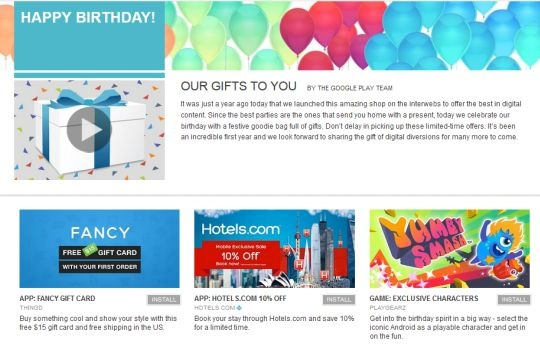 google play birthday