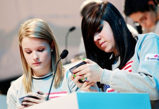 Teens with mobile