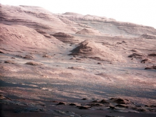 Mars Rover Opportunity Examines Rock Altered by Water