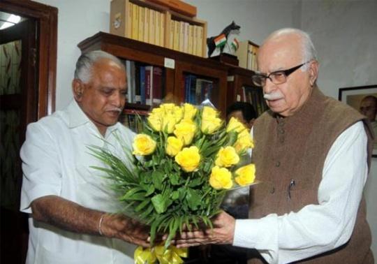 Advani Critical of BJP's Handling of BSY