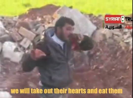 Syria rebel eating heart of soldier