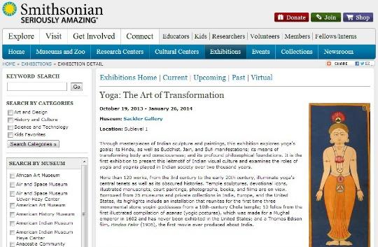 Smithsonian to Showcase Visual History of Yoga