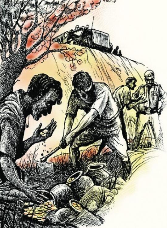 Digging treasure