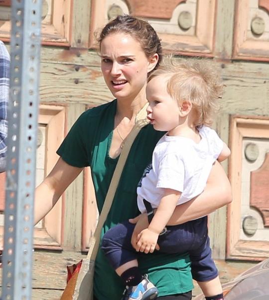 Natalie Portman Gives Don Piggyback Ride