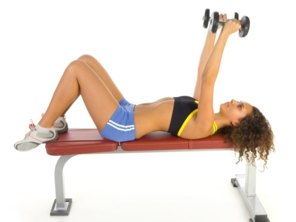 Workout Video: Both Hands Lying Dumbbell Triceps