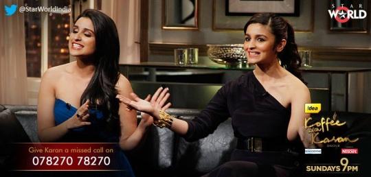 Alia Bhatt, Parineeti Chopra on Koffee With Karan