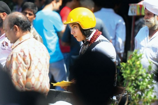 Aamir Khan shoots for PK
