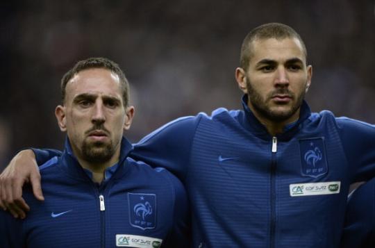 Franck Ribery and Karim Benzema
