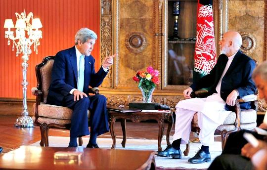 John Kerry, Afghanistan President Hamid Karzai