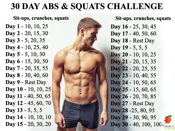 30 Day Abs and Squats Challenge | Diet & Fitness ...