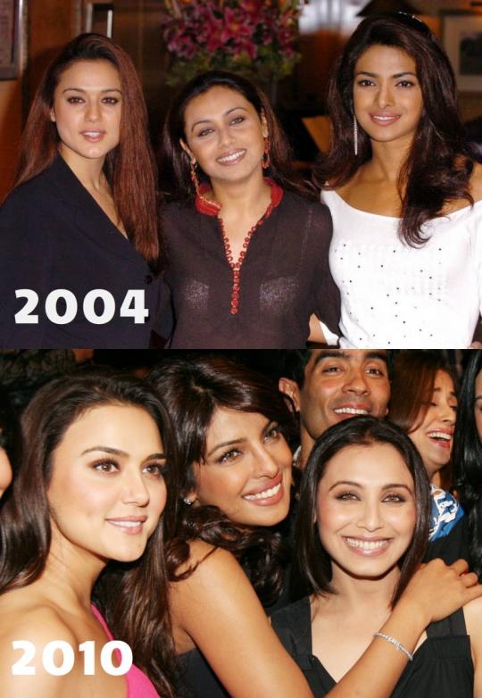 Growing Gains: Preity, Rani, Priyanka Age With Grace! - Indiatimes.com