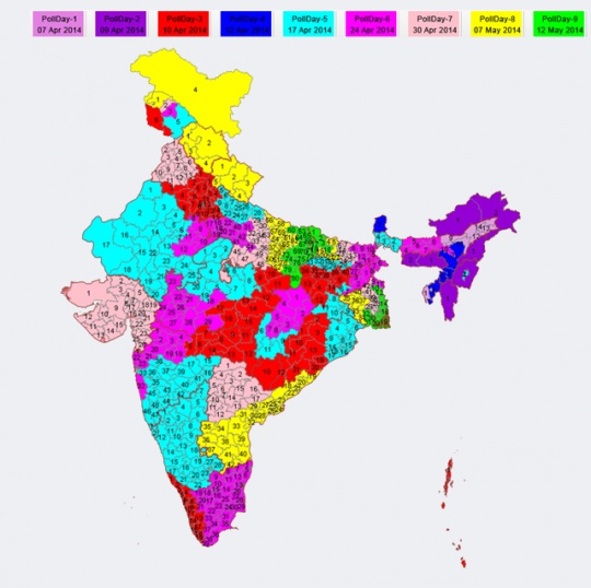 Election Commission Map