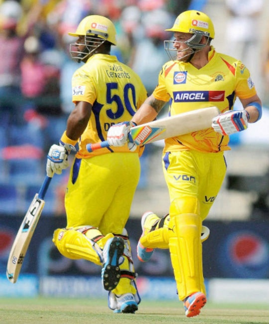 Dwayne Smith (left) and Brendon McCullum have been in red-hot form at the top of the order in IPL 2014.