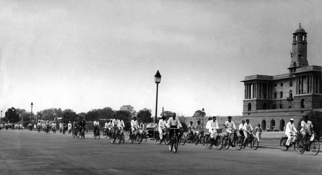 Rajpath cyclists