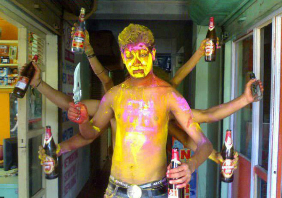Indian funny holi guy