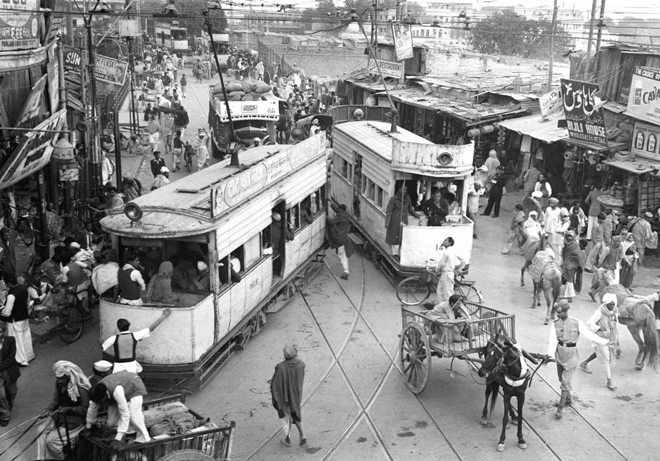 Trams in Old Delhi