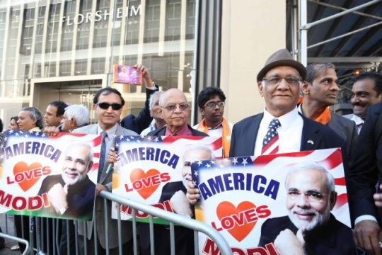 Modi's welcome in US