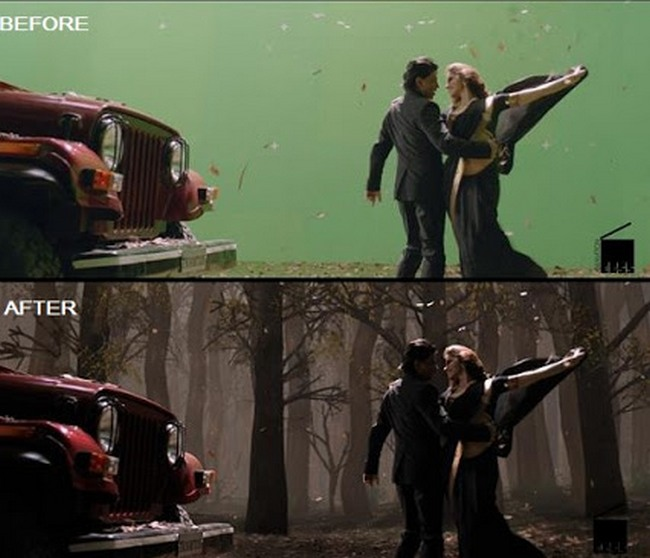 BeforeAndAfter VFX Shots From Indian Movies That Will Have - 20 before and after shots that show the magic of visual effects
