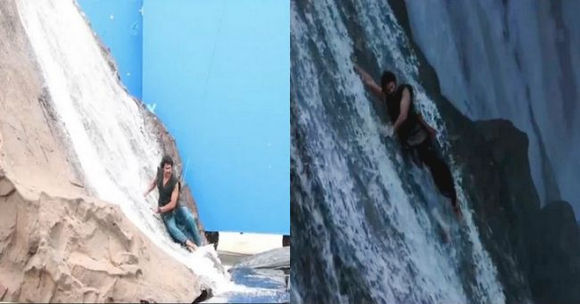 Before and After VFX shots in Baahubali