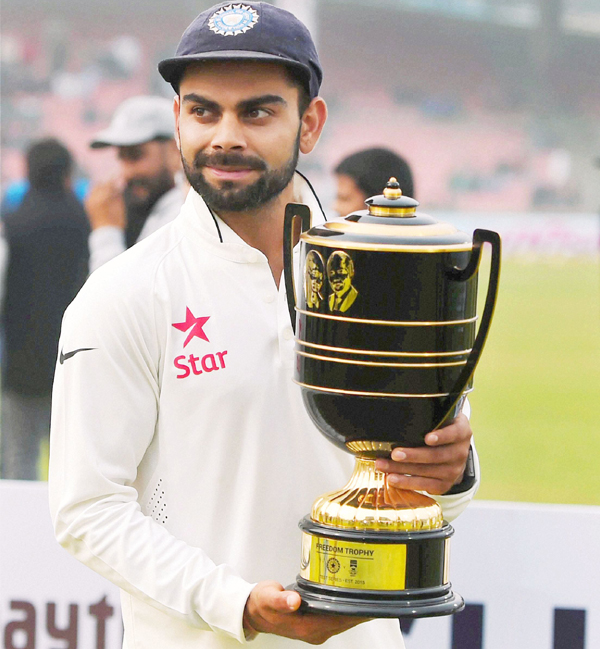 The Barcelona And Argentinian Forward Has Been Listed At No 2 Behind Indias Test Captain Who Ended 2015 With Back To Series Wins As In Sri