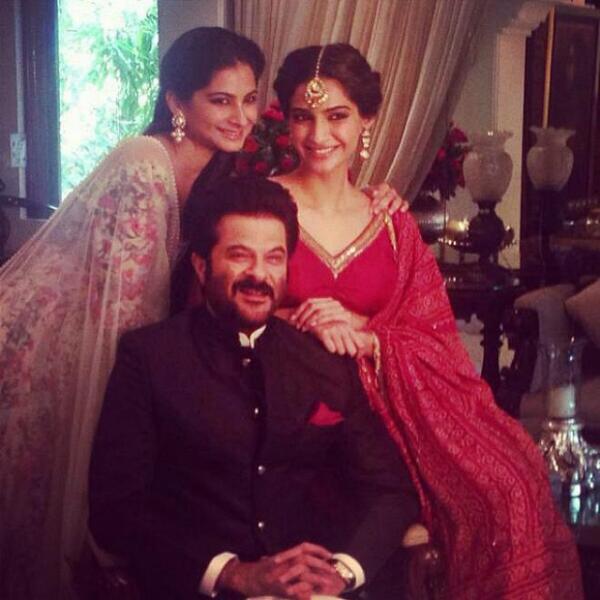 Anil, Sonam and Rhea kapoor