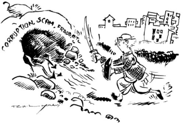 The best of rk laxman cartoons.