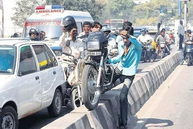 Image result for traffic rules breaking in india