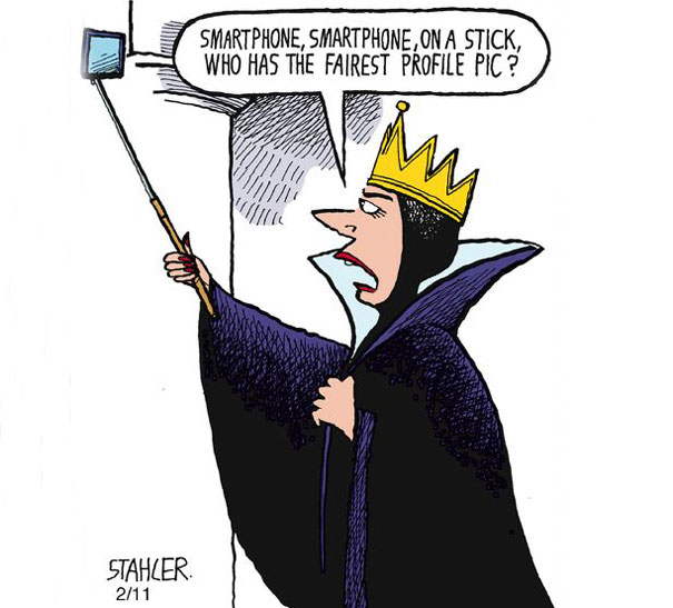 evil queen selfie snow white