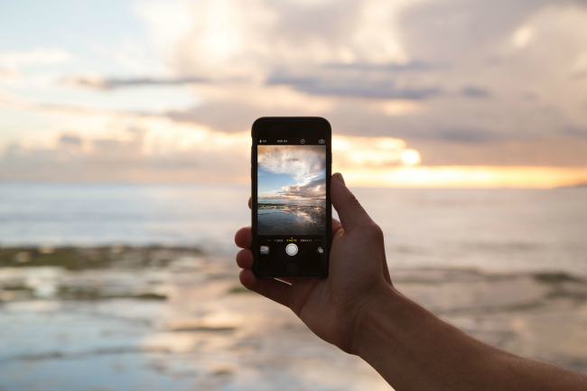 Clicking picture with an iphone