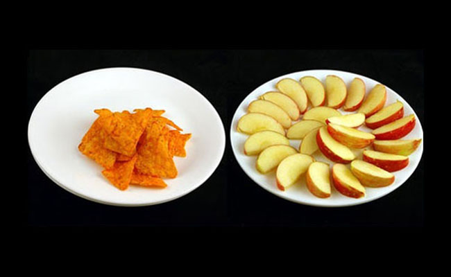 Calories Fast Food Vs Healthy Food