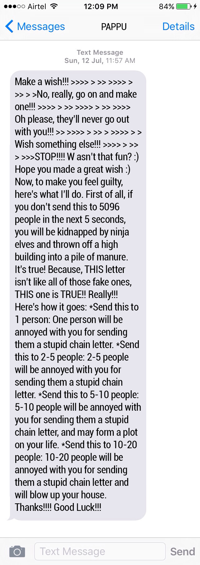 Chain Letter Example Love
