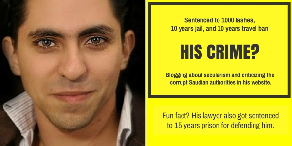 blogger saudi flogging lashes