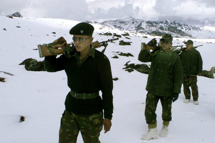 Indian army patrol tawang