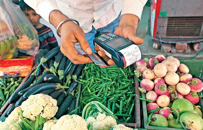 Image result for cashless economy india shops