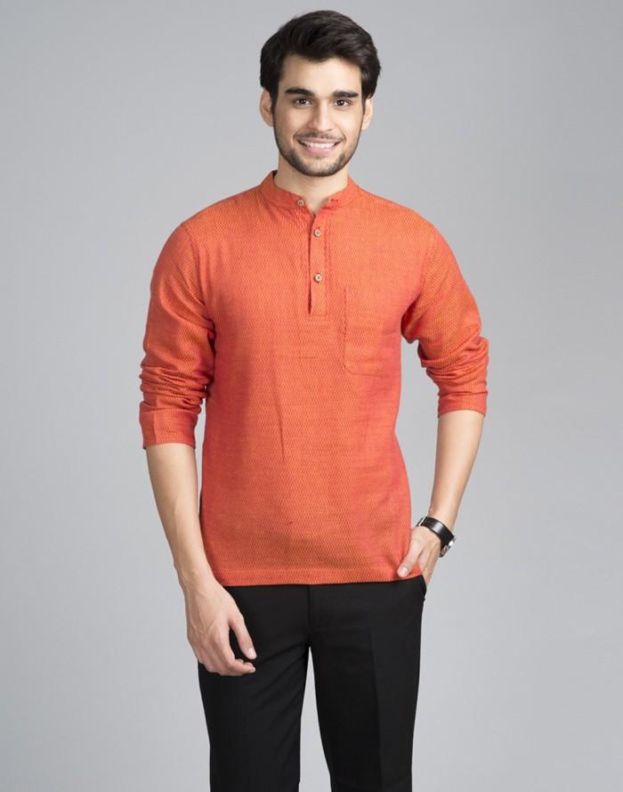 how to wear orange mens