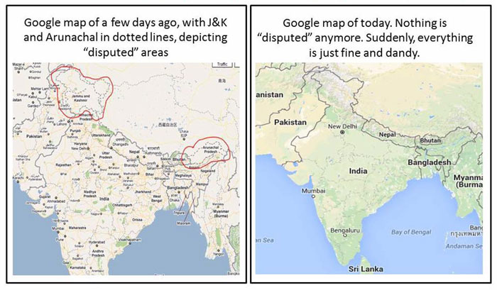 Looks Like Indias New Map Law Just Scared Google Into Showing Jk, Arunachal As -4919