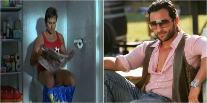 Image result for saif ali khan library in toilet