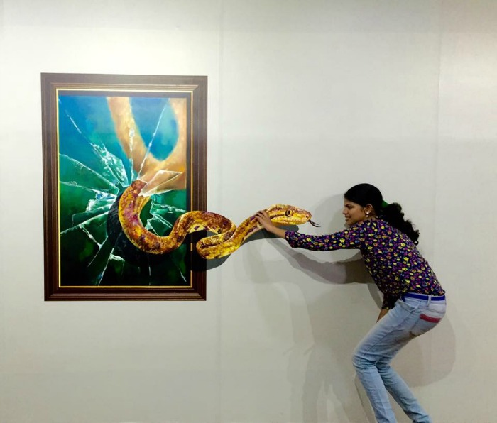 Change the way you click photographs with india 39 s first 3d for 3d mural art in india