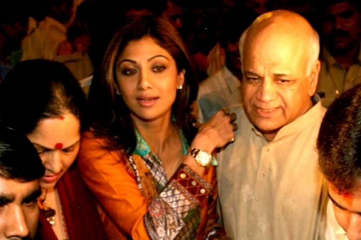 Shilpa Shetty And Daddy