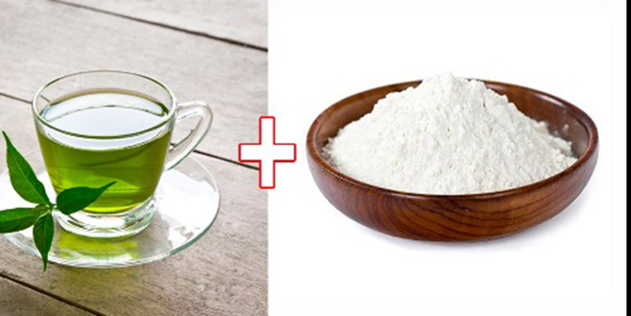 Green tea and rice flour mask